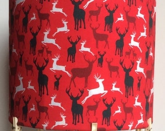 deer stags lampshade, perfect for bedroom, living room, hallway, dining room, Ideal for a new home, vibrant colours