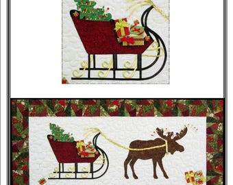 Christmas Moose Table Runner / Wall Quilt Pattern