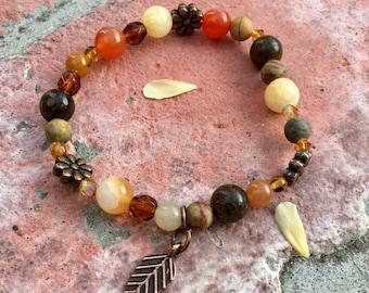 Desert Flowers: Semi-Precious Stone Bracelet