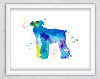 Giant Schnauzer Print, Dog Print, Animal Nursery Art Print, Watercolor Pet Print, Printable Wall Art Boy, Instant Download Digital Print