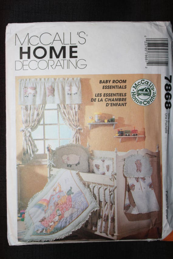 Baby Bedroom Essentials: McCalls 7868 Baby Room Essentials From DromacheDesigns On