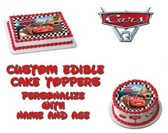 Disney Cars Edible Images Cake topper