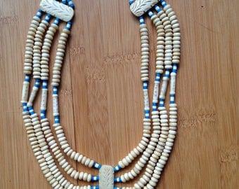 Gorgeous vintage bone necklace