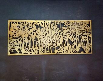 Brass Wall Art Decor - Home decor - Wall Art - Wall Hanging - Sculpture
