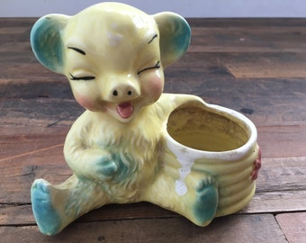 bear succulent planter | honeypot | kitsch