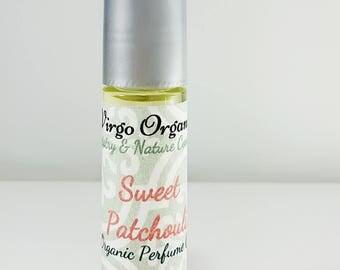 Organic Perfume oil / Sweet Patchouli  / Alcohol Free / Vegan / Gluten Free / Phthalate Free / Organic Oils
