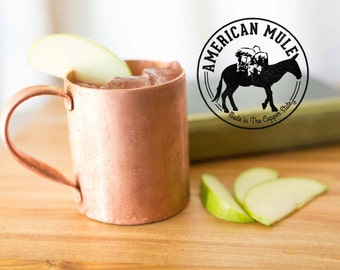 American Mule 100% Copper Mug of Superior Quality Handmade in The Copper State, USA)14oz Built Using Thick American Copper)
