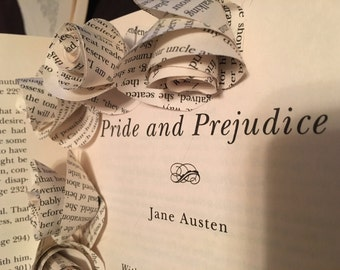Pride and Prejudice Book Page Flowers