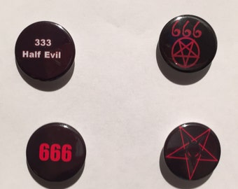 666 - Evil - Set of 4 badges