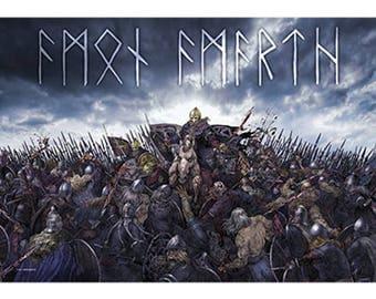Amon Amarth - Battlefield - Fabric Poster
