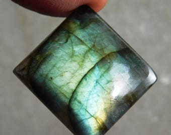 Blue Labradorite Cabochon Genuine Handmade Gemstone For Jewelry Making - 44.60ct.(25X23X7)mm ( #660)