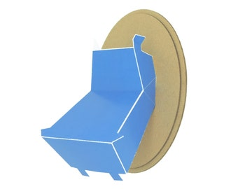 Trophy paper - Hippo head - blue