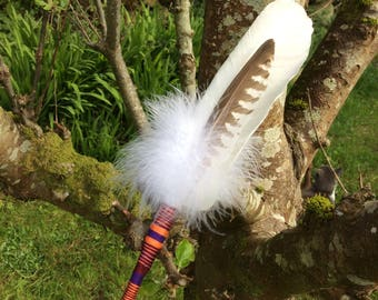 Feather Fan, Swan Totem Spirit for smudging and aura cleansing