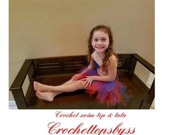 Girls' USA Crochet Top/Girls' Tutu