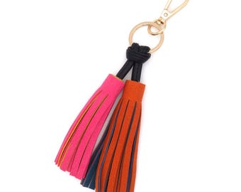 Colorful bag pendant with gold (gold)