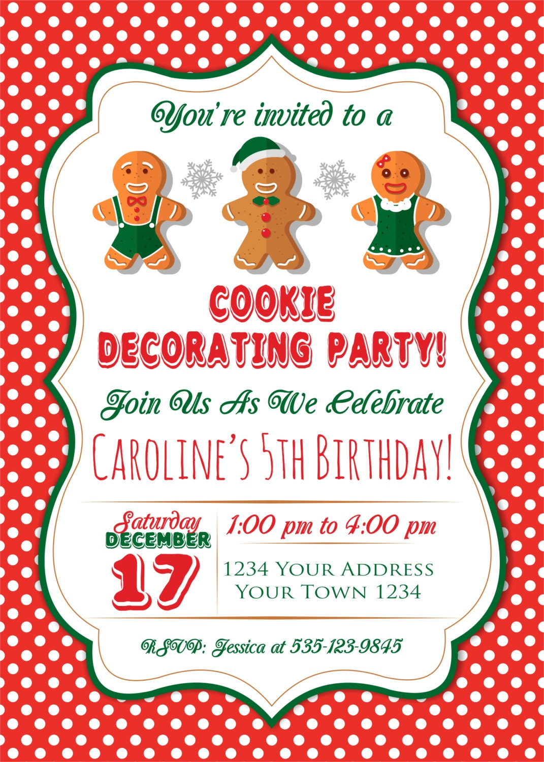 Kids Christmas Party Invitations. Cookie Decorating Party ...