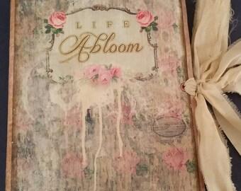 Soft Cover Junk Journal, Wedding Guest book, Vintage Journal