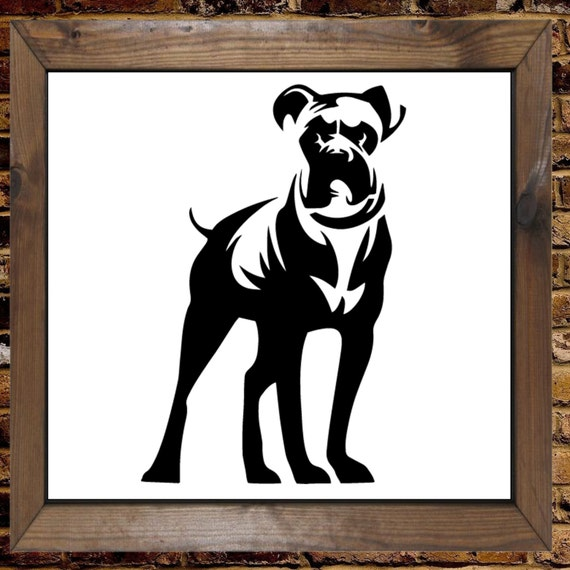 Diy Dog Wall Decor : Boxer dog stood mylar painting wall art stencil home decor diy