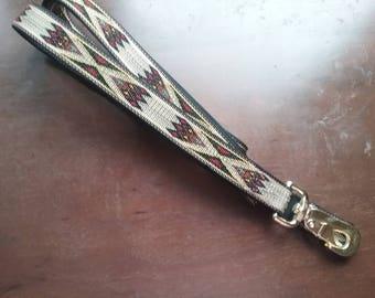 Navajo design dog leash 6 foot long