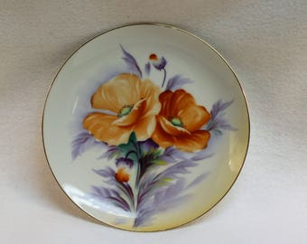 AIYO China Poppy Plate - Made in Occupied Japan - Decorative Plate - Collectible  Wall Decor