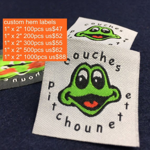 Custom clothing labels fabric clothing labels customized for Create fabric labels