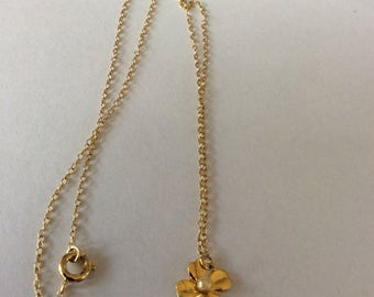 Tiny Gold Tone Necklace
