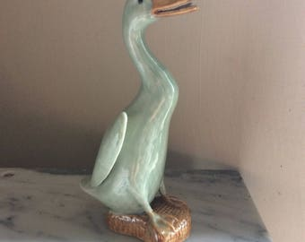 Mint green animal goose figurine