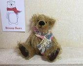 "Pierre - Hand Sewn Mohair Collectors Bear - 5"" Tall"