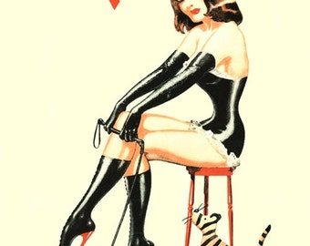 Vintage 1940's Bizarre Fetish Magazine Cover No.2 Art A3 Poster Re Print