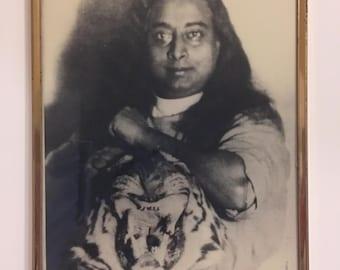 Vintage Black and White Portrait In Frame Man Cave Decor Vintage Photography Framed