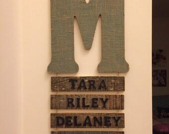 Last name letter name decor