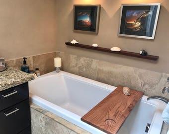 Bath Tub Caddy, Bath Tray, Wood Bathtub Caddy, Wood Bathtub Tray, Bath