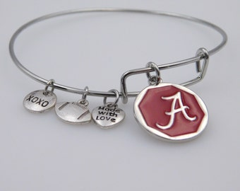 Alabama Crimson Tide Bracelet