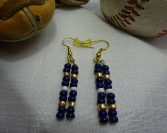 Milwaukee Brewers Glass Bead Earrings