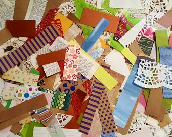 Handmade, a frenzie of endsies in an envie, scraps of paper, scrapbook paper, vintage paper, stationery paper, vellum, doilies