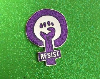 RESIST GLITTER Enamel Pin
