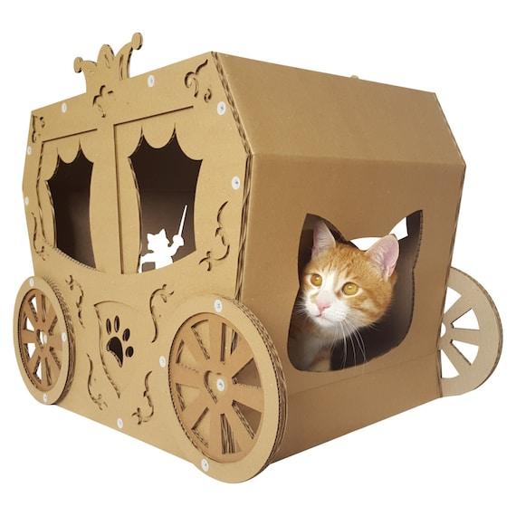 Remise Karton Katze Katzemöbel Katzenbett Katzenhöhle