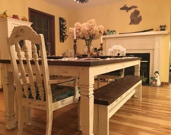 Farmhouse Table, Dining Table, Kitchen Table, Rustic Wood Table