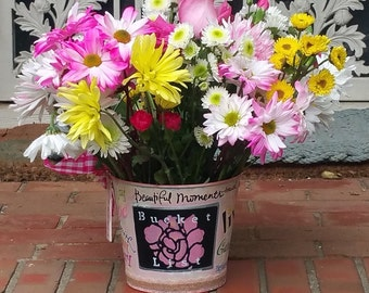 "Novelty Vase or Planter ""BUCKET LIST"" - Custom Order"