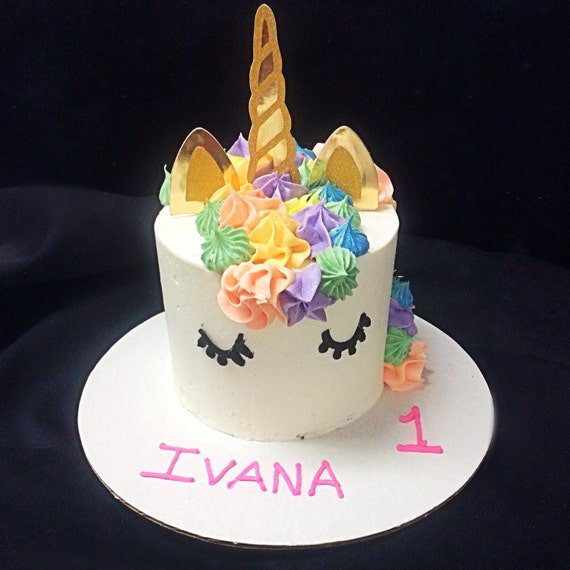 how to make unicorn horn for cake