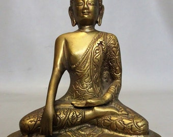 Bronze buddha statue figurine Nepal - Buddhism - gift for woman- gift for men - Meditation buddha - Zen