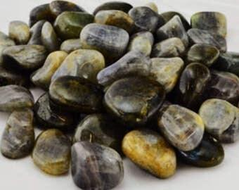 Labradorite tumbled stones ~1#