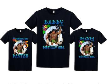 Moana Birthday Shirt, Moana Custom Shirt, Personalized Moana t-Shirt, Moana family shirts, Birthday t-shirt for girls and boys