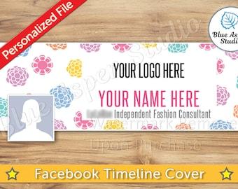 Facebook Timeline Cover Photo JPG File Personalized Name Banner FB Profile Image jpg jpeg Logo  FBT101