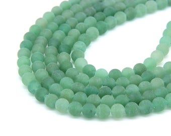 Matte Green Aventurine Beads 6mm 8mm 10mm Natural Aventurine Beads Green Gemstones Beads Green Aventurine Mala Beads Chakra Jewelry Supplies