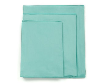 Powder Blue Crib Mattress Cover / Fitted Sheet