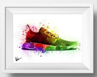 Adidas NMD Ultra Boost poster Sneaker wall art Yeezy Jordan Kanye R1