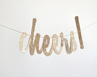 Cheers Banner, Cheers Sign, Bubbly Bar Banner, Champagne Bar, Champagne, Bubbles