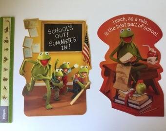 1981 Hallmark Muppets Kermit the Frog classroom wall display motivational posters Jim Henson