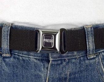 Black Kids Belt Press Belt Adjustable children's Girls belt or Boys belt